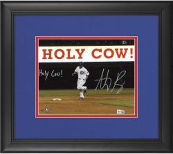 "Anthony Rizzo Chicago Cubs Framed Autographed 8"" x 10"" Holy Cow Photograph with Holy Cow Inscription"
