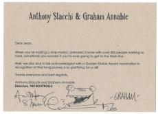 Anthony Stacchi & Graham Annable signed autographed card! Beckett BAS COA!