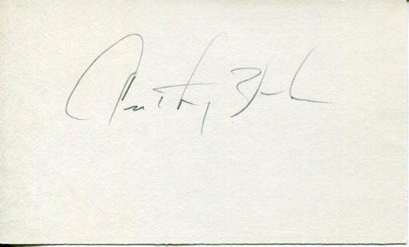 Anthony Zerbe Star Trek James Bond Papillon The Young Riders Signed Autograph