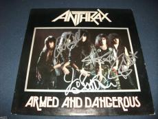 Anthrax Anthrology Signed Autographed LP Flat PSA x4