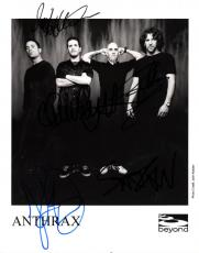 Anthrax Autographed Full Band Signed Promotional Photo   AFTAL