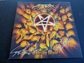 Anthrax Scott Ian Frank & Charlie Signed Autographed LP Album PSA Guaranteed