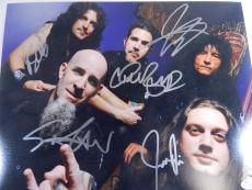 Anthrax Signed 11 x 14 Color Photo 5 JSA Autos