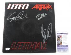 Anthrax & UTFO Signed LP Record Album Lethal w/ 3 JSA AUTOS