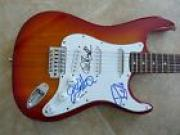 Anthrax x3 Band Signed Autographed Electric Guitar PSA Guaranteed