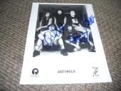 Anthrax x3 Signed Autographed 8x10 Vintage Promo 1994 Photo PSA Guaranteed #1