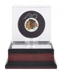 Antique Mahogany Hockey Puck Display Case