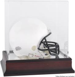 Antique Mahogany Mini Helmet Display Case