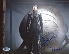 """Antje Traue Autographed 8"""" x 10"""" Man of Steel Photograph - Beckett COA"""