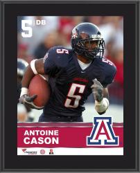"""Antoine Cason Arizona Wildcats Sublimated 10.5"""" x 13"""" Plaque"""