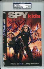 ANTONIO BANDERAS Carla Gugino ALEXA VEGA+Signed SPY KIDS VHS Cover Photo PSA/DNA