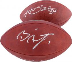 Antonio Brown and Ben Roethlisberger Pittsburgh Steelers Autographed Duke Pro Football
