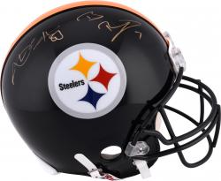Antonio Brown and Ben Roethlisberger Pittsburgh Steelers Autographed Riddell Pro-Line Helmet