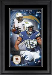 Antonio Gates San Diego Chargers 10'' x 18'' Vertical Framed Photograph with Piece of Game-Used Football - Limited Edition of 250