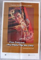 Any Which Way You Can ORIGINAL One Sheet Movie Poster 27x41 Clint Eastwood 1980
