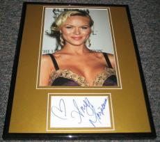 Anya Monzikova SEXY Signed Framed 11x14 Photo Display AW Iron Man