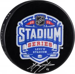 Anze Kopitar Los Angeles Kings Autographed 2015 Stadium Series Logo Hockey Puck