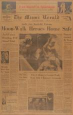 Apollo 11 Neil Armstrong Buzz Aldrin Collins Signed 1969 Miami Herald JSA