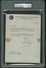 Apollo 11 Neil Armstrong Signed Autographed 1970 NASA 4x6 Letter PSA/DNA