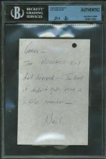 Apollo 11 Neil Armstrong Signed Autographed Hand Written 3x6 Letter JSA