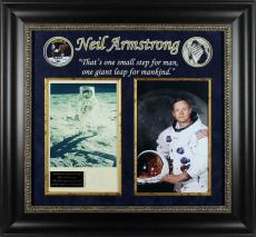 Apollo 11 Neil Armstrong Signed Framed Photo Display BAS #A86836