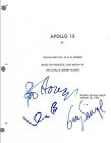 APOLLO 13 Movie Script Signed Autographed by Ron Howard Gary Sinese Bacon COA VD