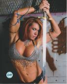 April Hunter WWE Autographed 8x10 Photo FSG Authenticated 1