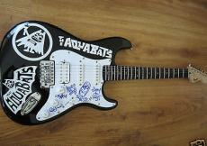 Aquabats complete group autographed Fender Bullet electric guitar IN PERSON COA