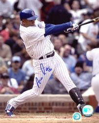Aramis Ramirez Chicago Cubs Autographed 8'' x 10'' Hitting Photograph - Mounted Memories