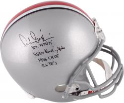 Archie Griffin Ohio State Buckeyes Autographed Riddell Replica Helmet with Multiple Inscriptions
