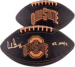 "Archie Griffin Ohio State Buckeyes Autographed NCAA Wilson Football with ""H.T 1974/1975 Inscription"