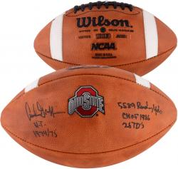 Archie Griffin Ohio State Buckeyes Autographed NCAA Wilson Pro Football with Multiple Inscriptions