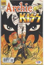 Archie Meets Kiss Signed Comic Book Set Of 2 Paul Stanley Gene Simmons Psa/dna