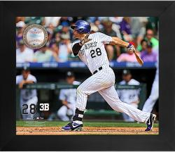 "Nolan Arenado Colorado Rockies Framed 20"" x 24"" Gamebreaker Photograph with Game-Used Ball"