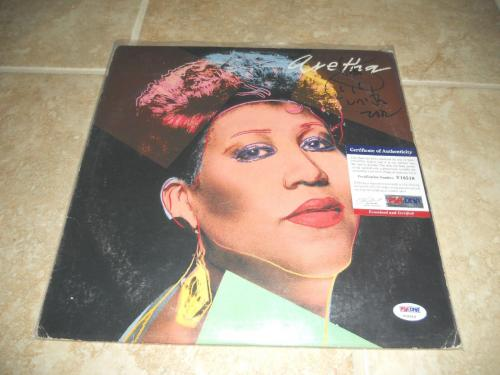 Aretha Franklin Signed Autographed LP Record Album Soul PSA Certified