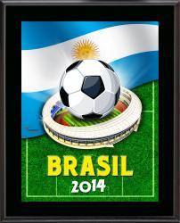 """Argentina 2014 Brazil Sublimated 10.5"""" x 13"""" Plaque"""