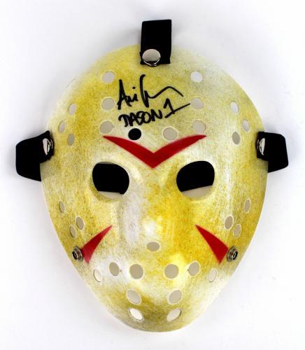Ari Lehman Autograph Friday the 13th Jason Mask First Jason Signed JSA COA 5