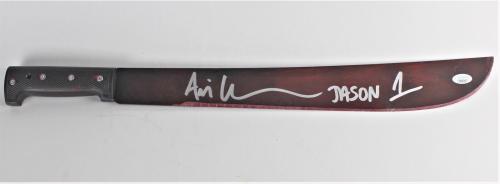Ari Lehman Autograph Metal Machete Friday the 13th Jason Voorhees JSA COA Z1