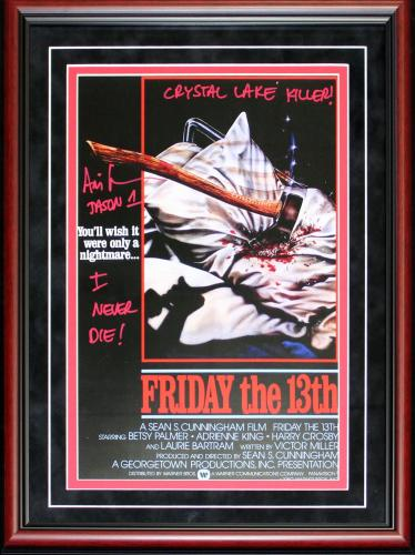 Ari Lehman Autographed Framed Multi Inscribed Friday the 13th Movie Poster