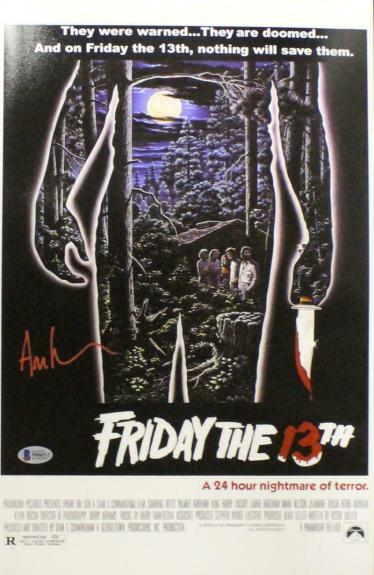 Ari Lehman Autographed Friday The 13th 11x17 Photo Movie Poster BAS 23752