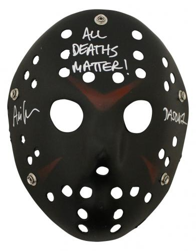Ari Lehman Autographed Friday The 13th Black Mask All Deaths Matter JSA 26204