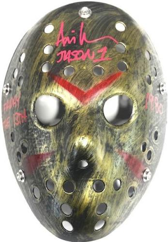 Ari Lehman Autographed Friday the 13th Jason Voorhees Gold Mask