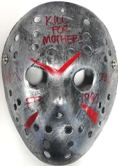 "Ari Lehman Autographed ""Kill For Mother"" Friday the 13th Jason Voorhees Silver Mask"