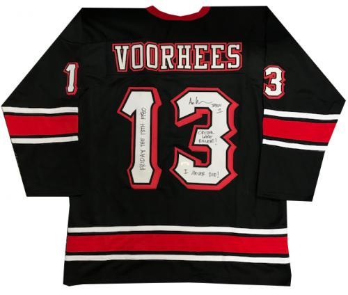 Ari Lehman Autographed Multi Inscribed Jason Voorhees Friday The 13th Jersey (JSA)