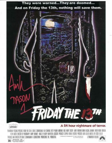 Ari Lehman Autographed/Signed Friday The 13th 8x10 Photo Jason JSA 26219