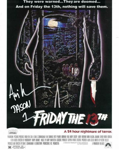 Ari Lehman Autographed/Signed Friday The 13th 8x10 Photo Jason JSA 26220