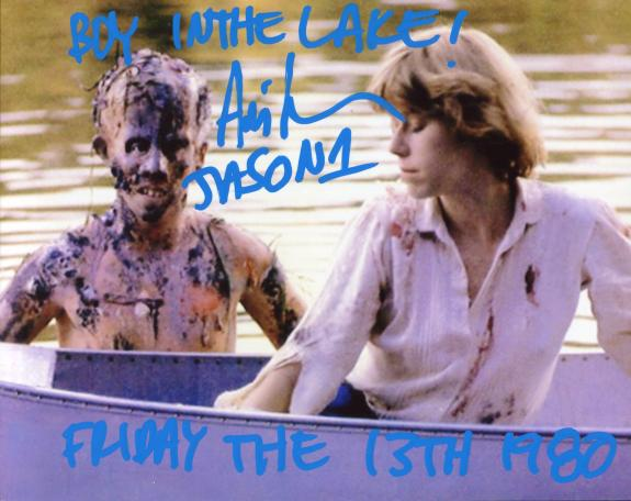 "Ari Lehman ""Boy in the Lake"" ""Friday the 13th 1980"" Autographed Jason Voorhees 8x10 Photo"