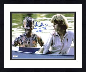 "Ari Lehman ""Boy In The Lake"" Signed Friday The 13th Jason 11X14 Photo PSA/BAS"