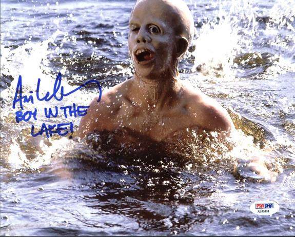 "Ari Lehman ""Boy In The Lake"" Signed Friday The 13th Jason 8X10 Photo PSA/BAS"