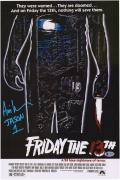 """Ari Lehman Friday The 13th Autographed 12"""" x 18"""" Jason Photograph Signed in Blue with Multiple Inscriptions"""